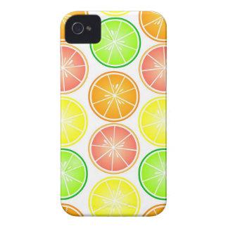 Citrus Fruit Print - Lemon Lime Orange Grapefruit Case-Mate iPhone 4 Case