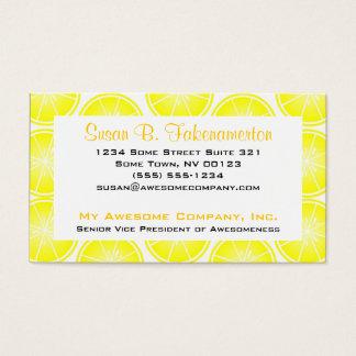 Citrus Fruit Print - Sliced Lemons Business Card