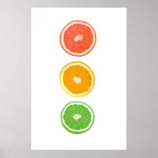 citrus fruit slice poster