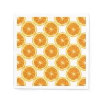 Citrus Fruit Sliced Oranges Napkin