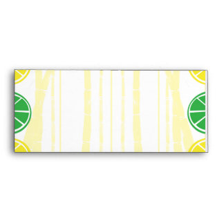 Citrus Fruit Slices and Bamboo Background Envelope