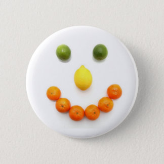 Citrus Fruit Smiley Smile Pinback Button