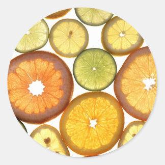 Citrus Fruits Classic Round Sticker
