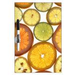 Citrus Fruits Dry Erase White Board