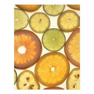 Citrus fruits flyer