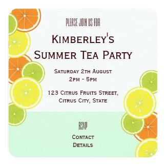 Citrus Fruits Original Summer Tea Party Invitation