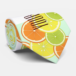 Citrus Fruits Pattern Cute Modern Summer Custom Tie