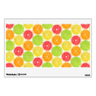 Citrus fruits pattern wall decal