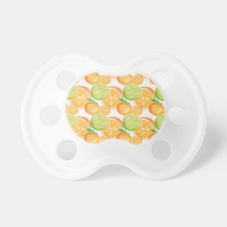 Citrus Fruits Watercolor Pacifier