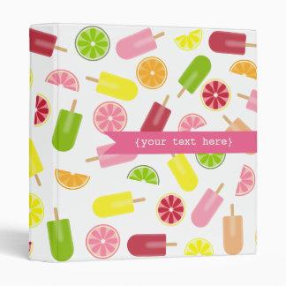 Citrus Ice Pops Personalized Binder