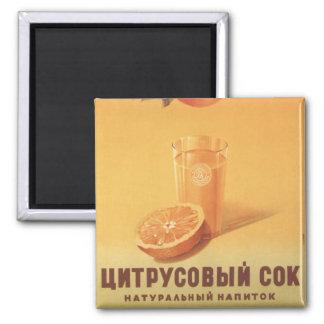 Citrus Juice 2 Inch Square Magnet
