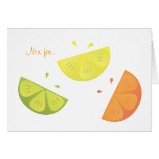 Citrus Juice Card