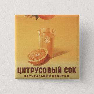 Citrus Juice Pinback Button