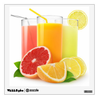 Citrus juice wall decal