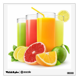 Citrus juices wall decal