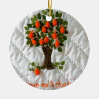 Citrus Leader Ceramic Ornament