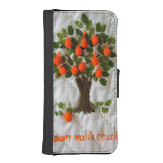 Citrus Leader Wallet Phone Case For iPhone SE/5/5s