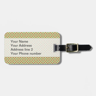 Citrus leaf pattern tag for luggage