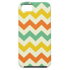 Citrus Lime Green Orange Yellow Chevron Zigzags iPhone 5 Cases