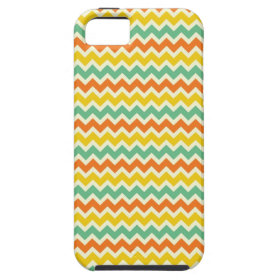 Citrus Lime Green Orange Yellow Chevron Zigzags iPhone 5 Covers