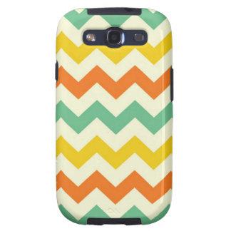 Citrus Lime Green Orange Yellow Chevron Zigzags Samsung Galaxy S3 Cases