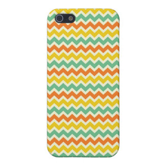 Citrus Lime Green Orange Yellow Chevron Zigzags Case For iPhone SE/5/5s