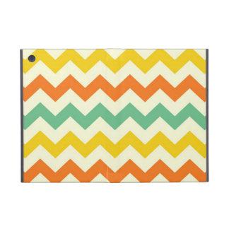 Citrus Lime Green Orange Yellow Chevron Zigzags Cover For iPad Mini
