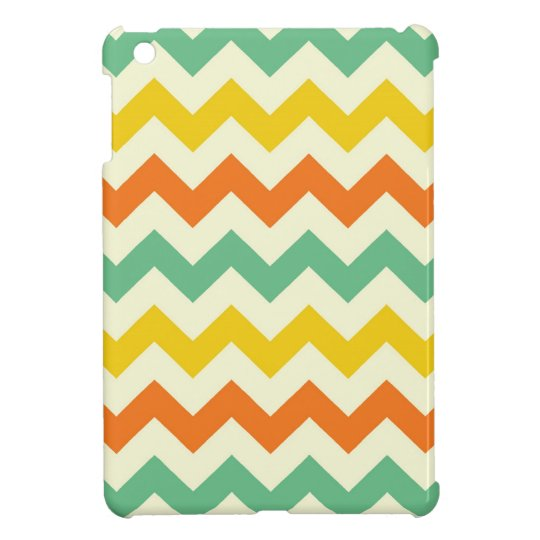 Citrus Lime Green Orange Yellow Chevron Zigzags iPad Mini Cases