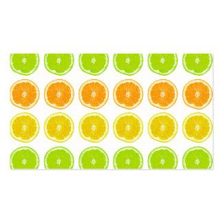 Citrus Lime, Orange, and Lemon Polka Dot Slices Business Card
