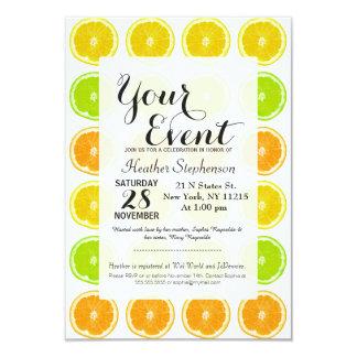 Citrus Lime, Orange, and Lemon Polka Dot Slices Card