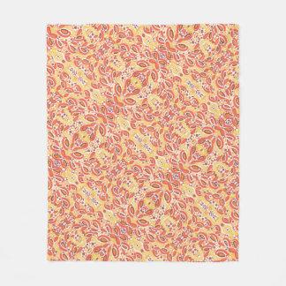 Citrus Orange Abstract Pattern Fleece Blanket
