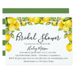Citrus Orchard Bridal Shower Invitation