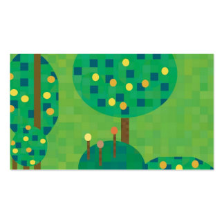 citrus orchard or garden business cards