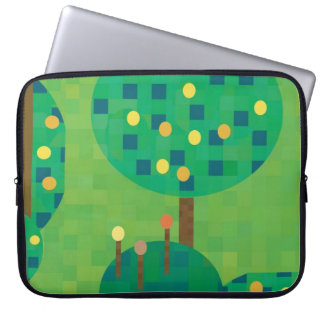 Citrus orchard or garden laptop computer sleeve