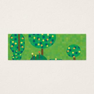 citrus orchard or garden mini business card
