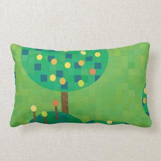citrus orchard or garden throw pillow