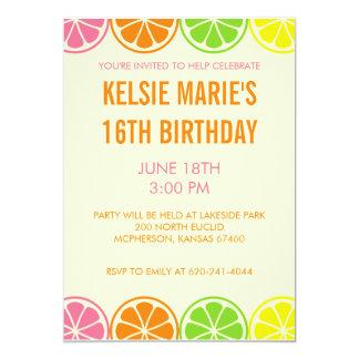 Citrus Party Invitation
