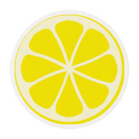 Citrus Party Lemon Edible Frosting Rounds