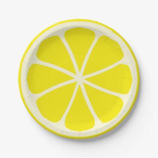 Citrus Party Lemon Paper Plate at Zazzle