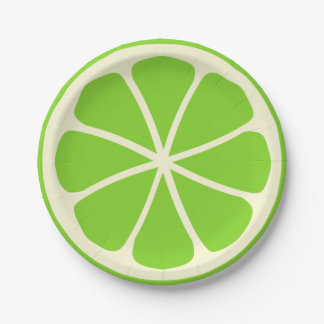 Citrus Party Lime Paper Plate