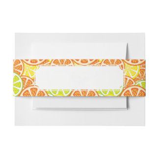 Citrus Pattern 2 Invitation Belly Band