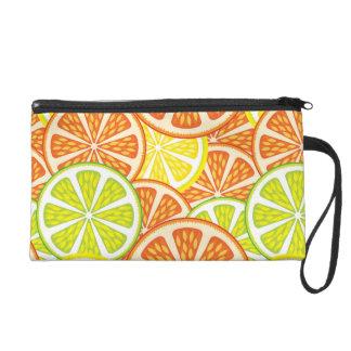 Citrus Pattern 2 Wristlet Purse