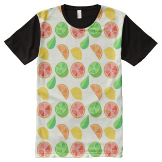 Citrus Pattern All-Over Print T-shirt