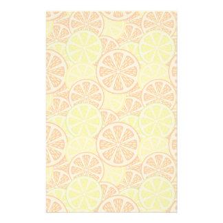 Citrus pattern stationery