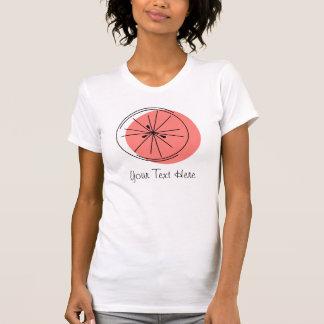 Citrus Pink Grapefruit 'Your Text' Ladies' t-shirt