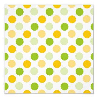 Citrus Polka Dots Photo Print