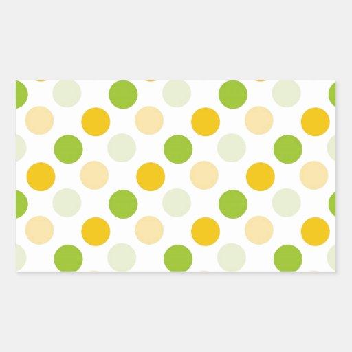 Citrus Polka Dots Rectangular Sticker