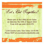 Citrus Pop Design BBQ Dinner Party Invitation