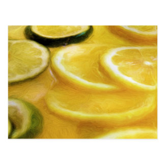 Citrus Punch Painting Postcard