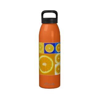 citrus reusable water bottle